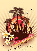Summer Beach Party — Stock Vector