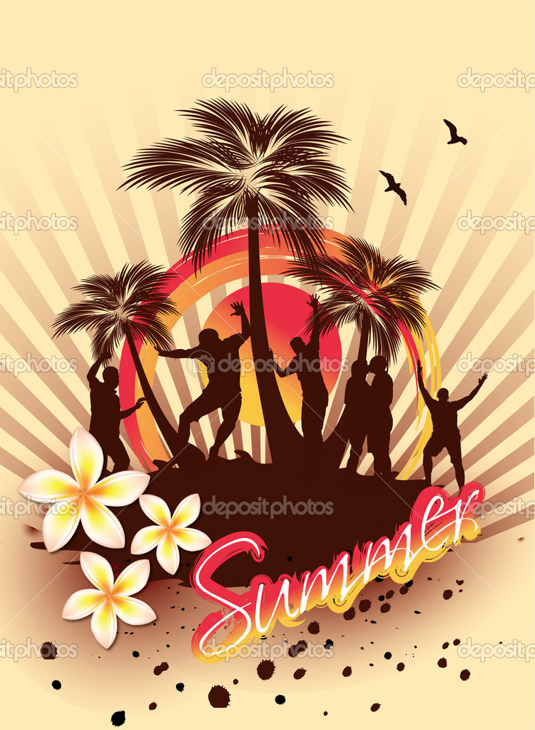 Beach Party   Stock Vector #11808755