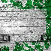 Stary tarcza zielona farba — Zdjęcie stockowe