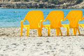 Morze i krzesła — Zdjęcie stockowe