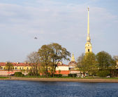Peter and Paul Fortress in St.Petersburg,Russia — Stock Photo