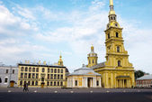 Peter and Paul Church in Peter and Paul's Fortress in Petersburg,Russia — Stock Photo