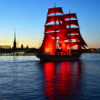 "St.Petersburg, June 24: Holiday ""Scarlet sails"" - Zdjęcie stockowe"