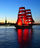 "St.Petersburg, June 24: Holiday ""Scarlet sails"" — Zdjęcie stockowe"