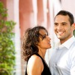Royalty-Free Stock Photo: Young couple smiling