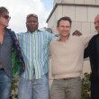 Royalty-Free Stock Photo: Sean Bean, Christian Slater, Ving Rhames and M. Korostishevsky.