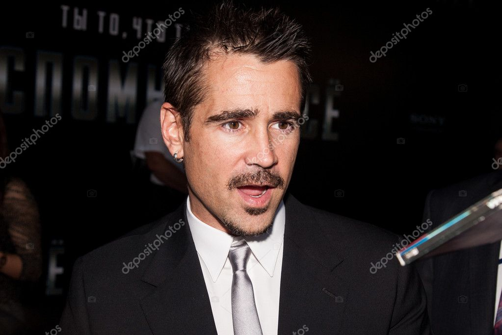 MOSCOW, RUSSIA, AUGUST, 8: Actor Colin Farrell. Premiere of the movie Total Recall, August,8, 2012 at OCTOBER CINEMA  in Moscow, Russia — Stock Photo #12388897