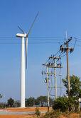 Wind energy turbine power station — Stock Photo