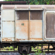 Old train container - 图库照片