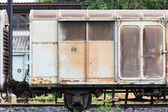 Old train container — Stock Photo