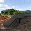 Coal Stockpile and blue sky — Stock Photo