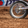 Cornering Motocross Motorcycle — Stock Photo