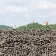 Stock Photo: Old Tires heap