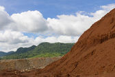 Laterite ores Stockpile — Stock Photo