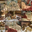 Collage of aromatic spices — Stock Photo