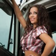 Sexy truck driver — Stock Photo
