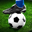 Soccer player with ball — Stock Photo #10802264