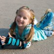 Girl on roller skates — Stockfoto #10881034