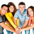 Group of young holding hands — Stock Photo #11691033