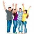 Group of young holding hands - Stock Photo
