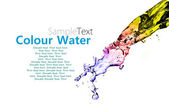 Colour splashing water — Stock Photo