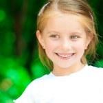 Little girl smiling — Stock Photo #11986745