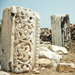 Large stone with carvings — Stock Photo