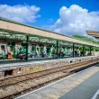 Stock Photo: Station platform with