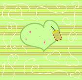 Cartolina di San Valentino con il vettore di cuore — Vettoriale Stock