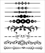 Ornamental and Page Decoration Design Elements — Stock Vector