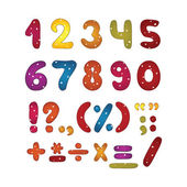 Funny number set — Stock Vector