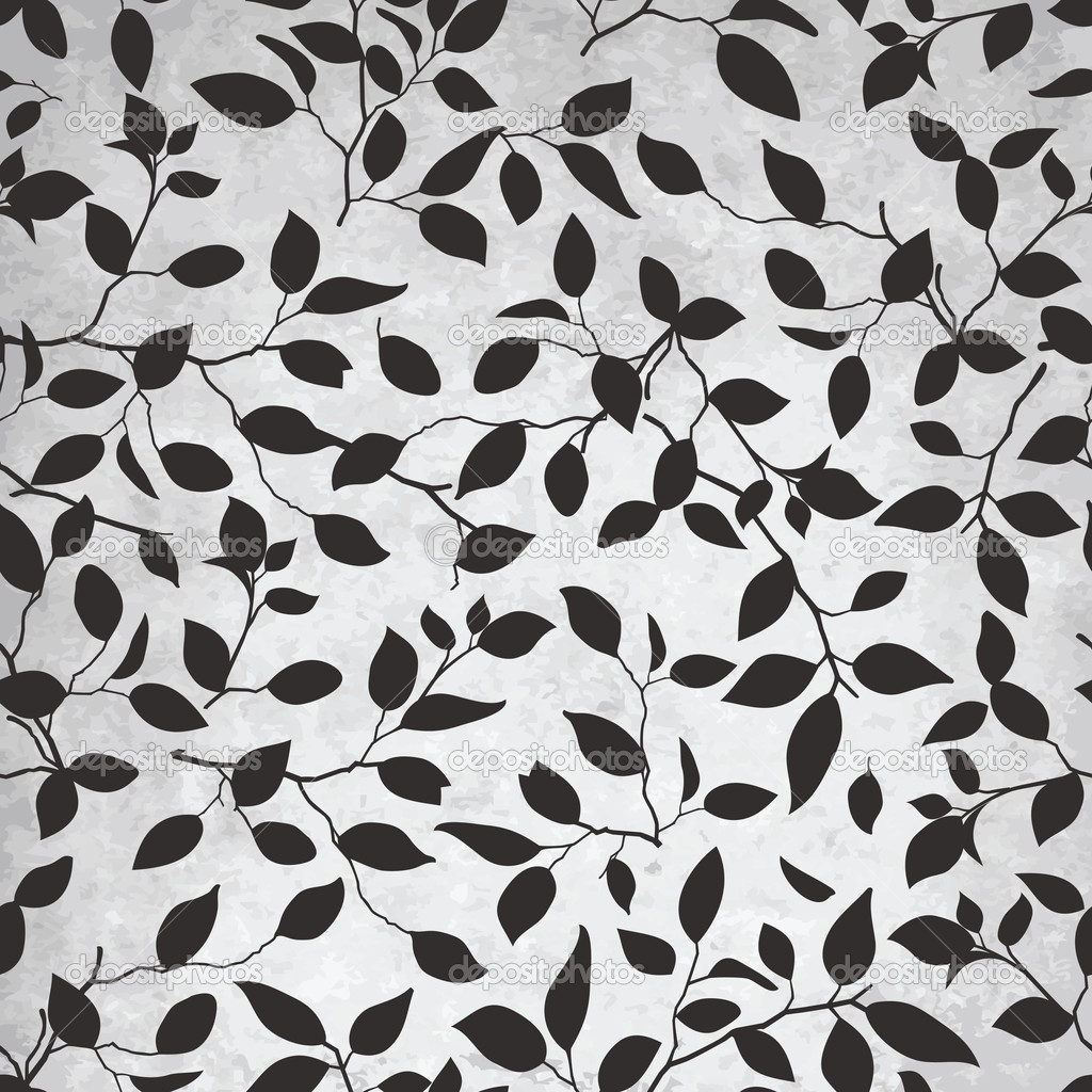 Abstract Leaf Pattern on