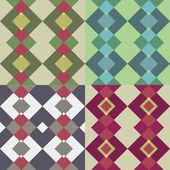 Geometric seamless pattern set — Stock Vector