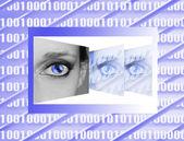 Women eye on new technologies — Stock Photo