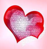 головоломка сердец — Стоковое фото