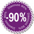 Discount ninety percent — Stock Vector