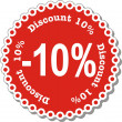 Discount Ten Percent — Stock Vector