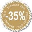 Discount thirty five percent — Stock Vector