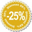 Stock Vector: Discount twenty five percent