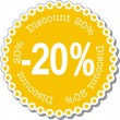 Discount twenty percent — Stock Vector