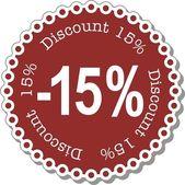 Discount fifteen percent — Stock Vector