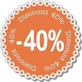 Discount forty percent — Stock Vector