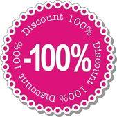Discount hundred percent — Stock Vector