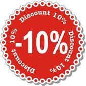 Discount Ten Percent — Stock Vector