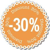 Discount thirty percent — Stock Vector
