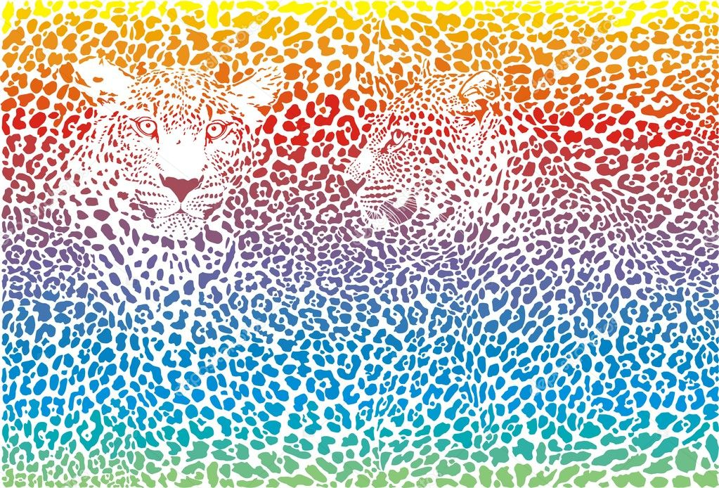 Leopard rainbow patter... Rainbow Cheetah Wallpaper