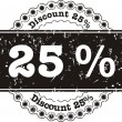 Stock Vector: Stamp Discount twenty five percent