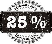 Stamp Discount twenty five percent — Stock Vector