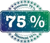Stamp Discount seventy five percent — Stock Photo