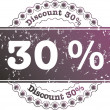 Stamp Discount thirty percent — Stock Photo